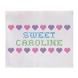 Sweet CAROLINE Throw Blanket