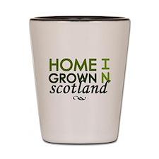 'Home Grown In Scotland' Shot Glass