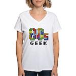 80s Geek Women's V-Neck T-Shirt