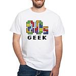 80s Geek White T-Shirt