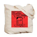 Tote Bag featuring hungry Rosemary