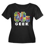 80s Geek Women's Plus Size Scoop Neck Dark T-Shirt