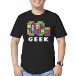 80s Geek Men's Fitted T-Shirt (dark)
