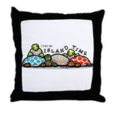 Island Time Turtle Throw Pillow