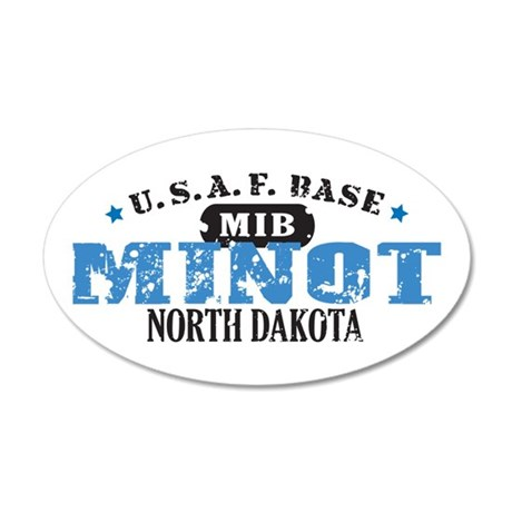 Minot Air Force Base 38.5 x 24.5 Oval Wall Peel