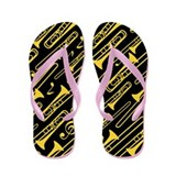 Trombone Band Music Flip Flops