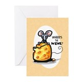 Wheres the Wine Funny Greeting Cards (Pk of 10)