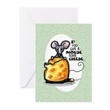 Wine n Cheese Joke Funny Greeting Cards (Pk of 10)