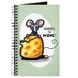 Wine n Cheese Joke Funny Journal