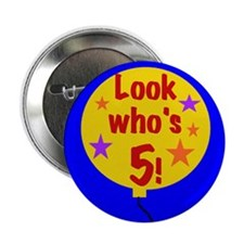 "5th Birthday 2.25"" Button (10 pack)"