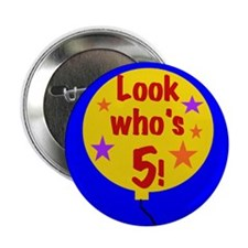 5th Birthday Button