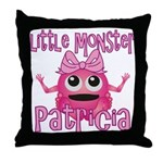 Little Monster Patricia Throw Pillow