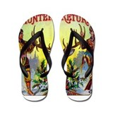 Hunters Return Cigar Label Flip Flops