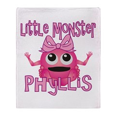 Little Monster Phyllis Throw Blanket