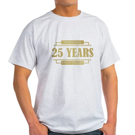 Stylish 25th Wedding Anniversary Light T-Shirt