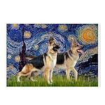 Starry / 2 German Shepherds Postcards (Package of