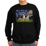 Starry / 2 German Shepherds Sweatshirt (dark)