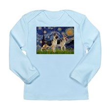 Starry / 2 German Shepherds Long Sleeve Infant T-S