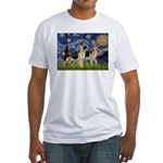 Starry / 2 German Shepherds Fitted T-Shirt