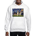 Starry / 2 German Shepherds Hooded Sweatshirt