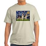 Starry / 2 German Shepherds Light T-Shirt