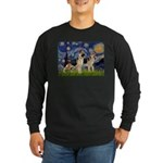 Starry / 2 German Shepherds Long Sleeve Dark T-Shi