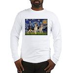 Starry / 2 German Shepherds Long Sleeve T-Shirt