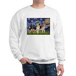 Starry / 2 German Shepherds Sweatshirt