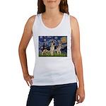 Starry / 2 German Shepherds Women's Tank Top
