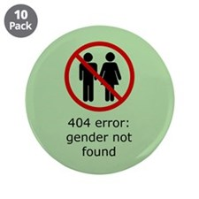 "Gender Not Found 3.5"" Button (10 pack)"