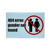 Gender Not Found Rectangle Magnet