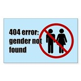 Gender Not Found Decal
