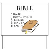 BIBLE Yard Sign