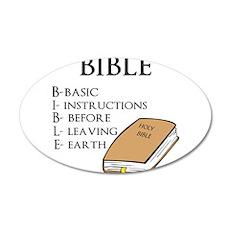 BIBLE 22x14 Oval Wall Peel