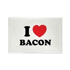 I love bacon Rectangle Magnet (100 pack)
