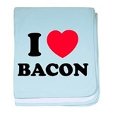 I love bacon baby blanket