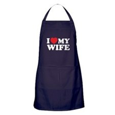 I love my wife Apron (dark)
