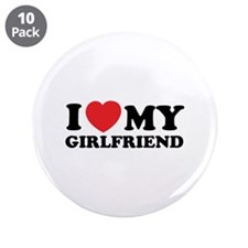 "I love my girlfriend 3.5"" Button (10 pack)"