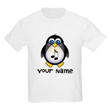 Personalized Music Penguin T-Shirt