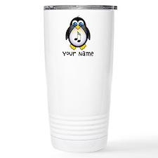 Personalized Music Penguin Travel Mug