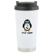 Personalized Music Penguin Ceramic Travel Mug