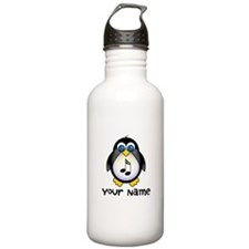 Personalized Music Penguin Water Bottle
