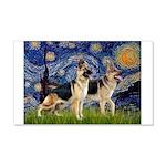 Starry / 2 German Shepherds 20x12 Wall Decal