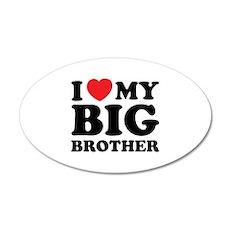 I love my big brother 38.5 x 24.5 Oval Wall Peel