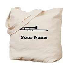 Personalized Trombone Tote Bag
