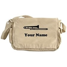 Personalized Trombone Messenger Bag