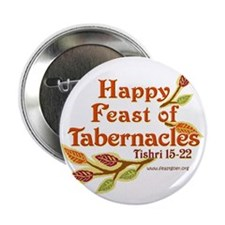 "Happy Feast of Tabernacles 2.25"" Button (10 pack)"