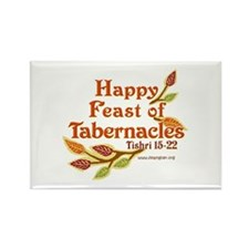 Happy Feast of Tabernacles Rectangle Magnet (10 pa