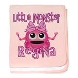 Little Monster Regina baby blanket