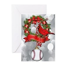 Baseball Christmas Wreath Greeting Cards (Pk of 10